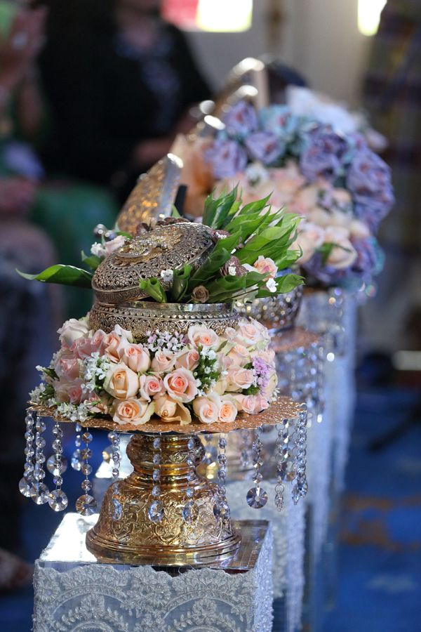 Beautiful floral arrangement for the engagement