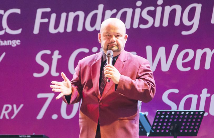 Comedian Harith Iskander left guests in stitches at his jokes