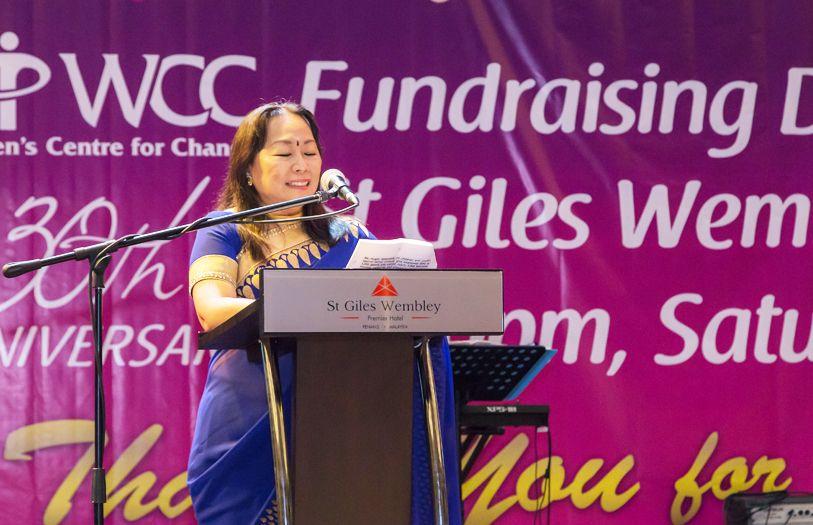 WCC President Lalitha Menon giving her opening speech