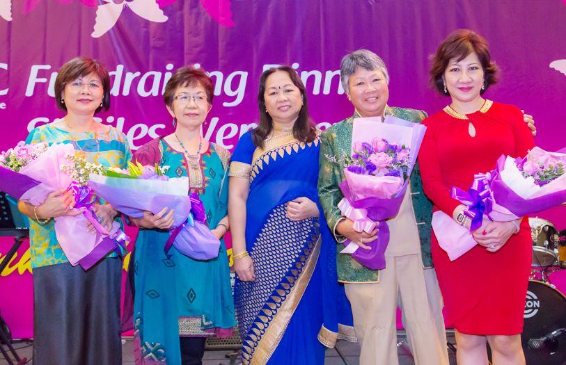 Datin Chin Khuan Sui, Susan Siew, WCC President Lalitha Menon, Mariam Lim and WCC Organising Chairperson Datin Annie Chin