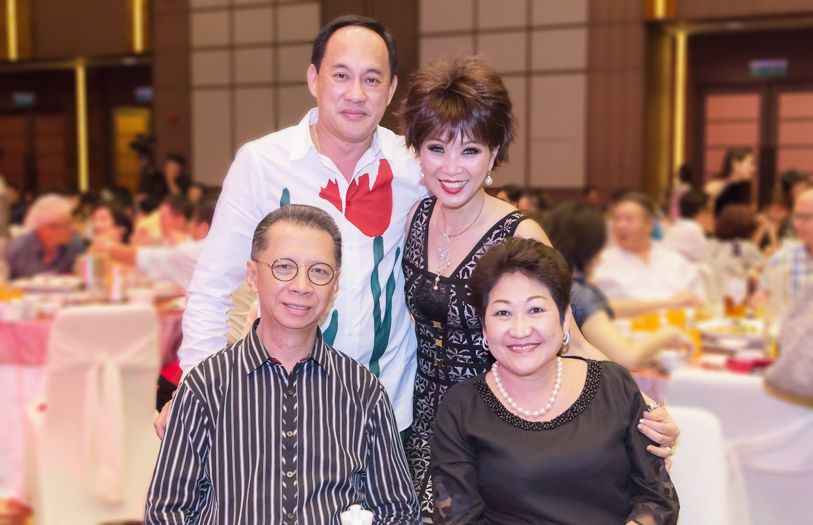 (Standing) Dato' Alvin Lim and Datin Peggy Lim with (Seated) Dato' Sim Ah Chye and Datin May Sim