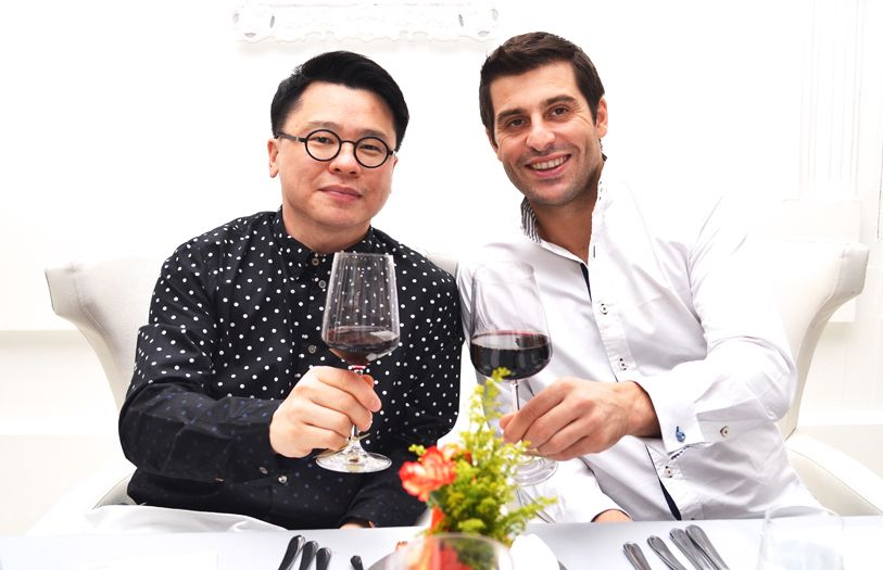 Owner of Macalister Mansion, Dato' Sean H'ng and Area Manager (Asia Pacific) of Ornellaia Estate, Patrick Lachapele