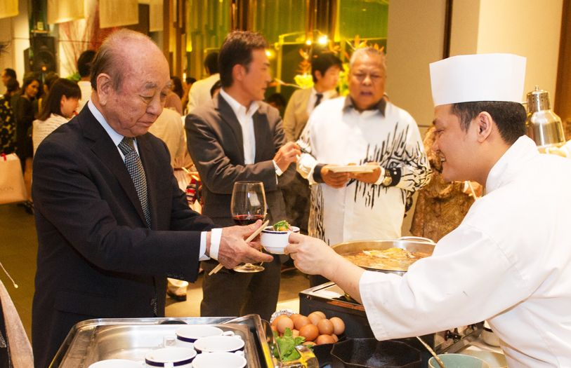 Guests enjoying the Japanese buffet provided by Kampachi Restaurants