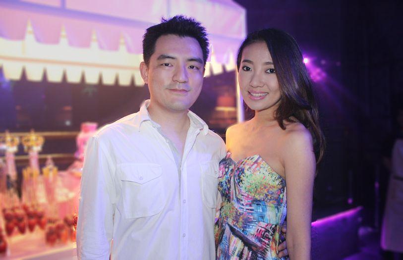 Joshua Wong and Chelsia Ng