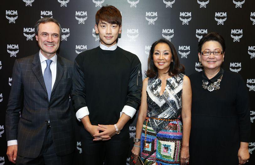 (L-R) CEO of MCM Worldwide, Paolo Fontanelli; International Korean artist Rain; President of The Melium Group, Dato' Farah Khan and CEO of Pavilion KL, Joyce Yap
