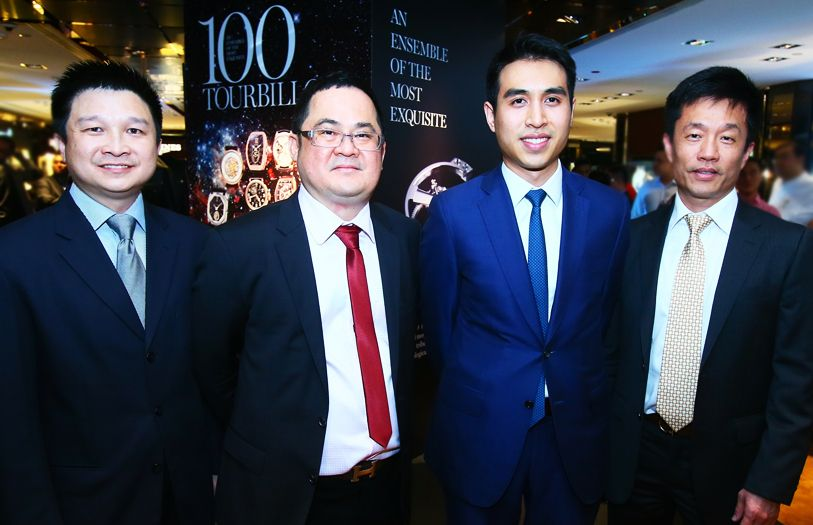 (L-R) General Manager of Sincere Watch Malaysia, Teh Soon Kheng; CEO of Sincere Watch Limited (SEA), Ong Ban; Managing Director of Sincere Watch Limited, Kingston Chu and Francis Tan