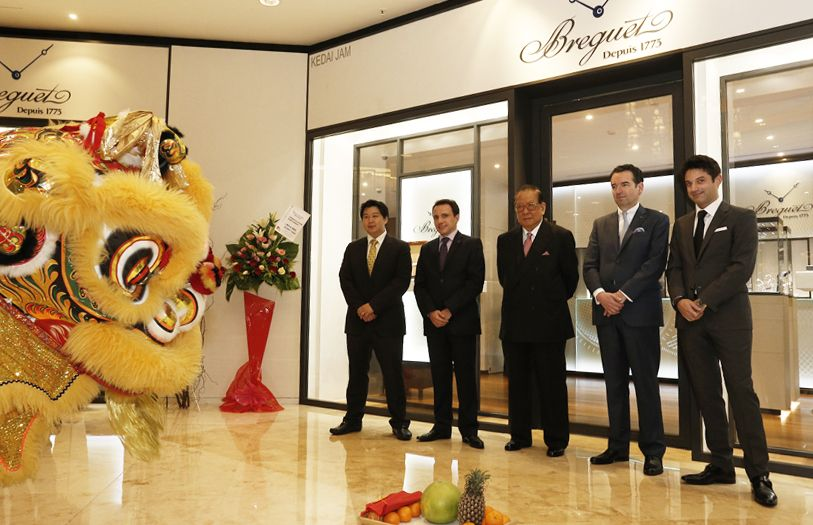 A lion dance ceremony at the opening of Breguet's boutique in JW Marriott Hotel KL