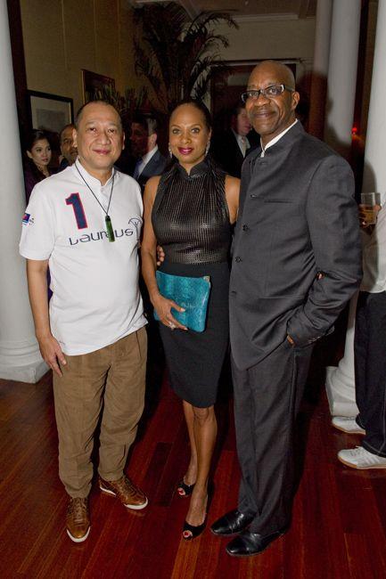 Dato Seri Nazri Aziz with Michelle and Edwin Moses