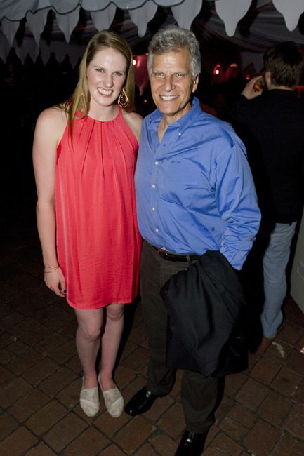 Missy Franklin and Mark Spitz, former American 9-time Olympic champion swimmer