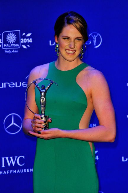 Missy Franklin, six-time World Champion swimmer who won the Laureus Sportswoman of the Year
