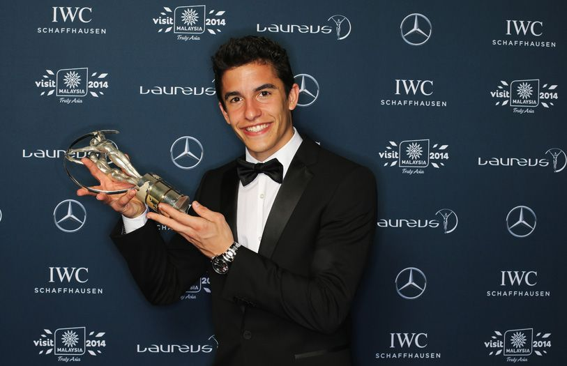Marc Marquez, MotoGP world champion, who took home the Laureus World Breakthrough of the Year award
