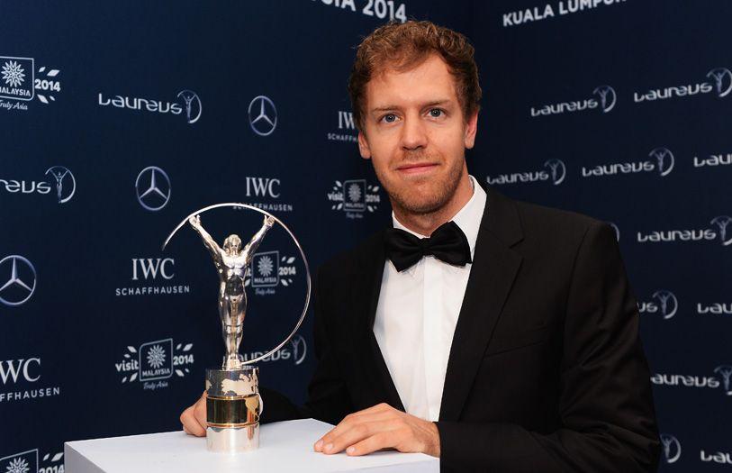 Sebastian Vettel, 4-time Formula 1 world champion racer, who was awarded the Laureus World Sportsman of the Year
