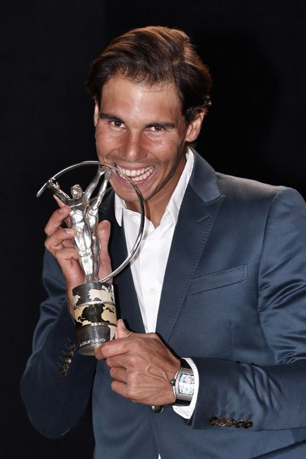 Rafael Nadal, winner of the French and US Open tennis championships and awardee of the Laureus World Comeback of the Year