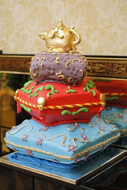 Datuk Raziah's genie lamp inspired cake for an Arabian Night birthday party