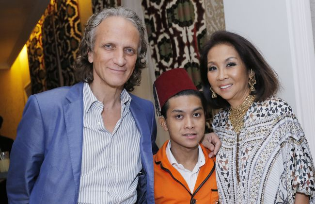 Dimitri Pantazaras, Karim Khan and Dato' Farah Khan