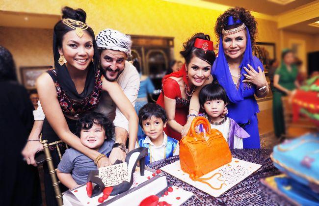 Esha and Aishah Geneid's surprise belated birthday cake from Datuk Raziah Mahmud-Geneid