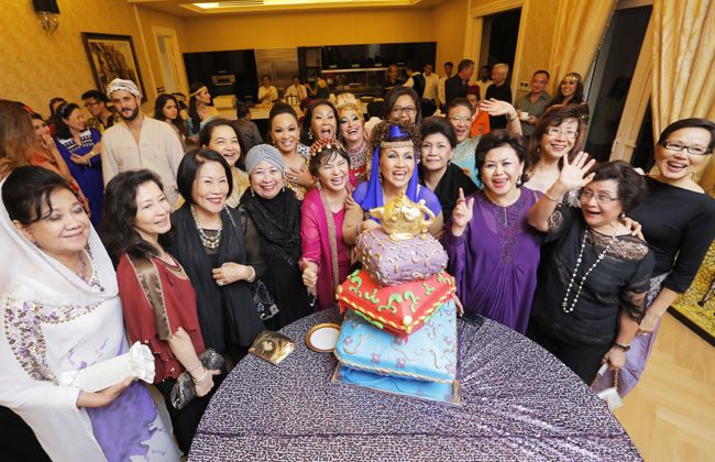 Datuk Raziah Mahmud-Geneid surrounded by family and friends to celebrate her birthday