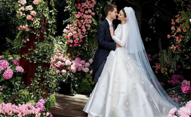 The Most Iconic Celebrity Wedding Gowns With Links To Dior