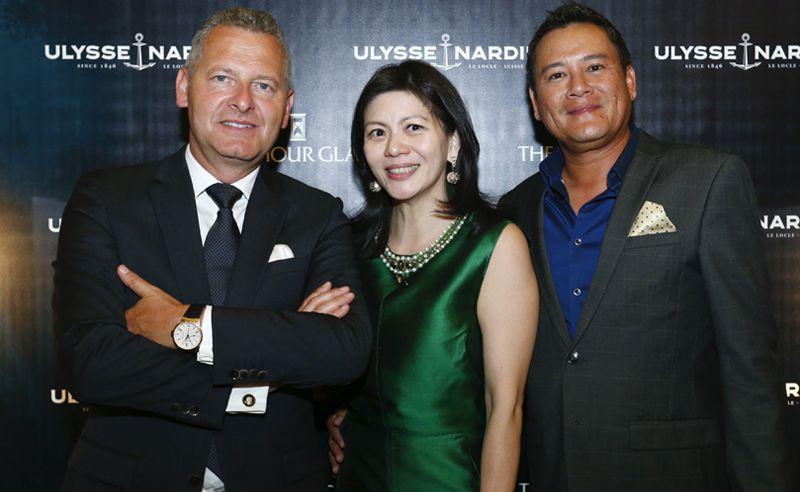Patrik Hoffmann, Che Puan Datin Winnie Low and Tunku Dato' Johanez
