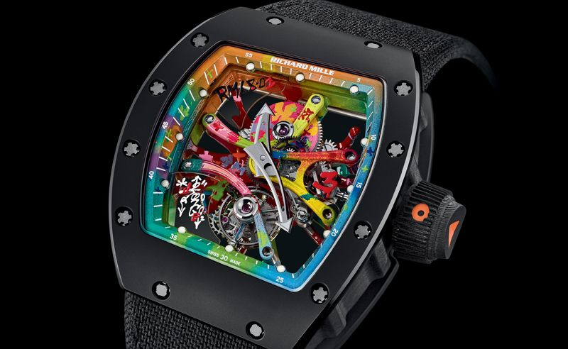 Graffiti on your wrist courtesy of Richard Mille and Cyril Kongo