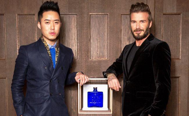 Bryan Loo and David Beckham at Haig Club London.