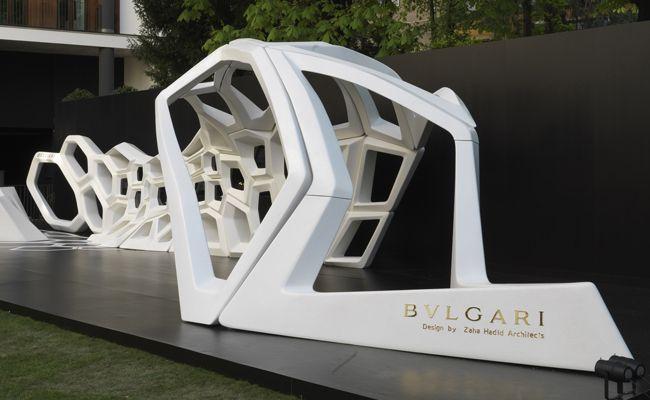 Bulgari Installation by Zaha Hadid