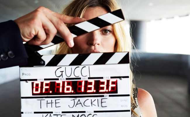 Kate Moss for Gucci's Jackie Soft feature film