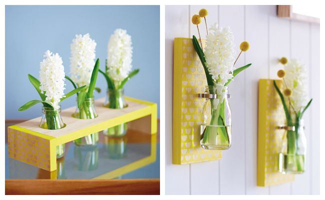 Scallop Print Table and Wall Vase DIY Kit from Urban Crafter