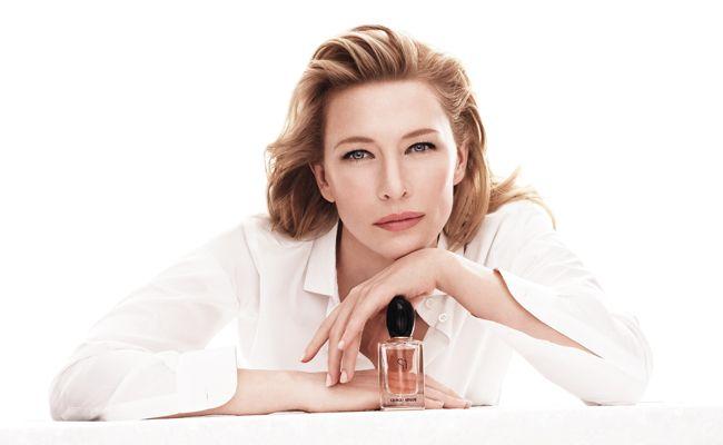 Cate Blanchett for Giorgio Armani's new perfume, Si