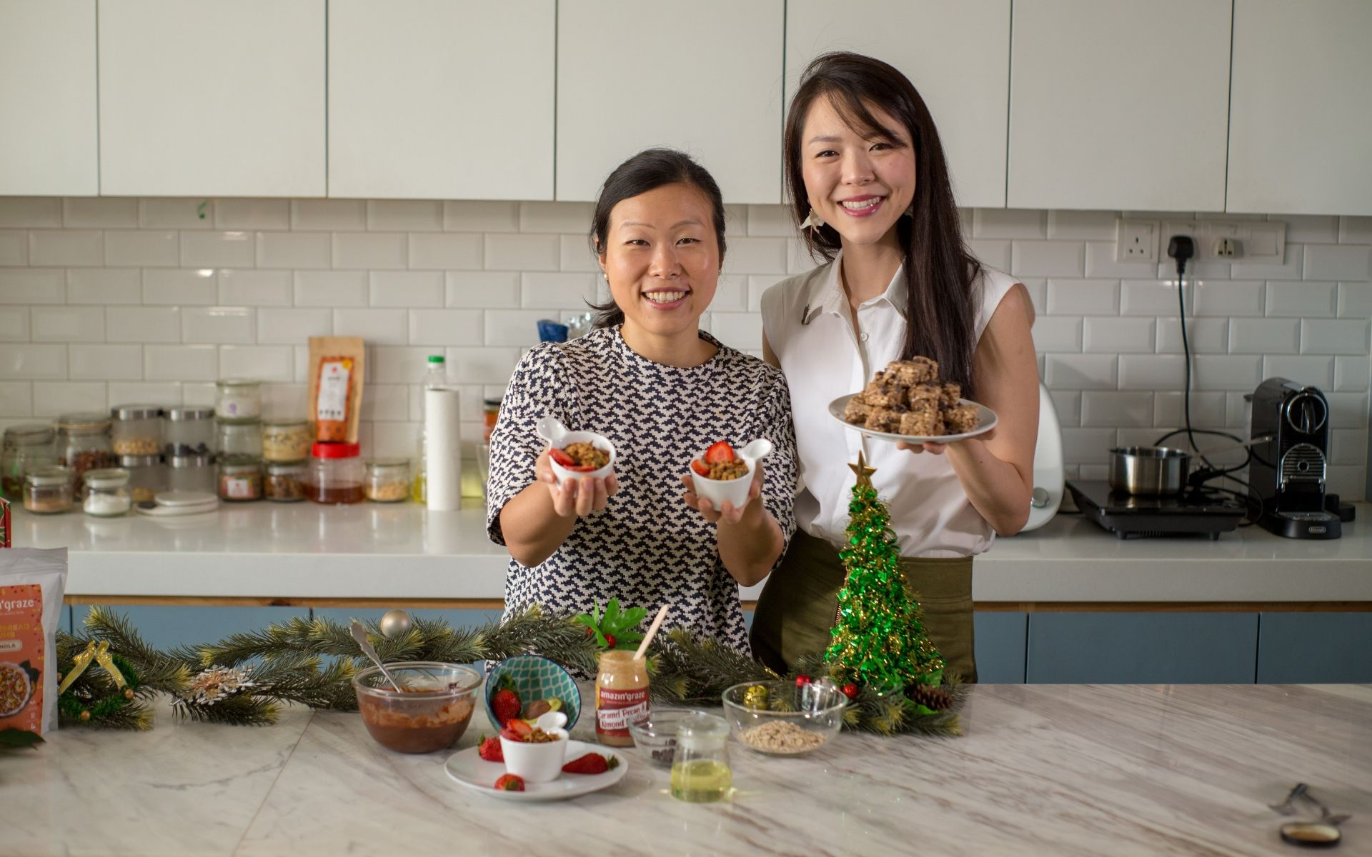 Amy Zheng & Lee Ching Yi present their version of healthier but luxurious Christmas classics