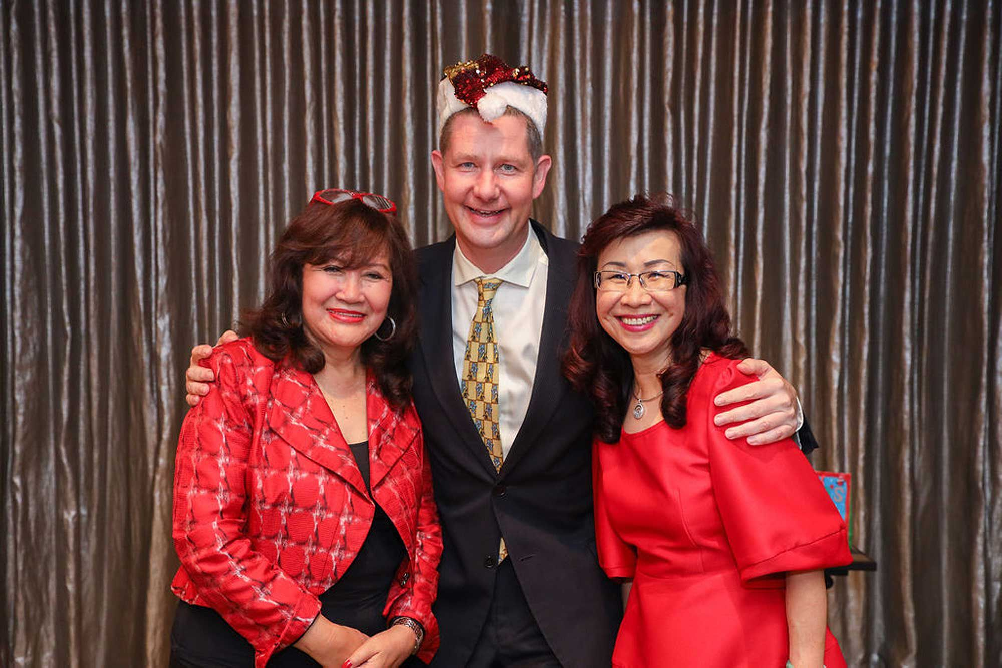 Dato' Rosemarie Wee, Tom Roelens and Florence Fang