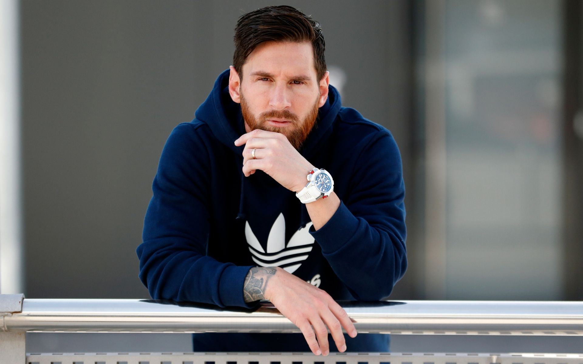 Lionel Messi wearing his fiirst creation with Jacob & Co.