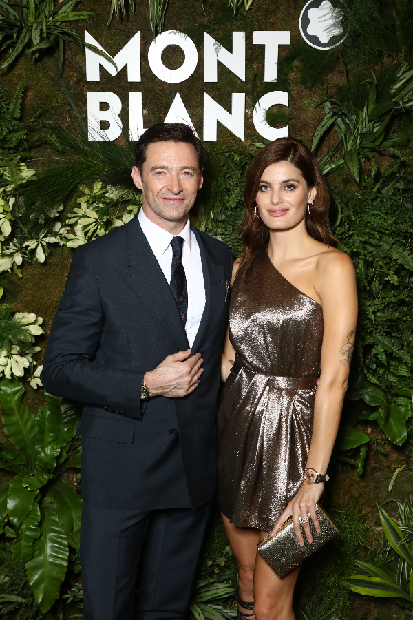 Hugh Jackman and Isabeli Fontana at Montblanc