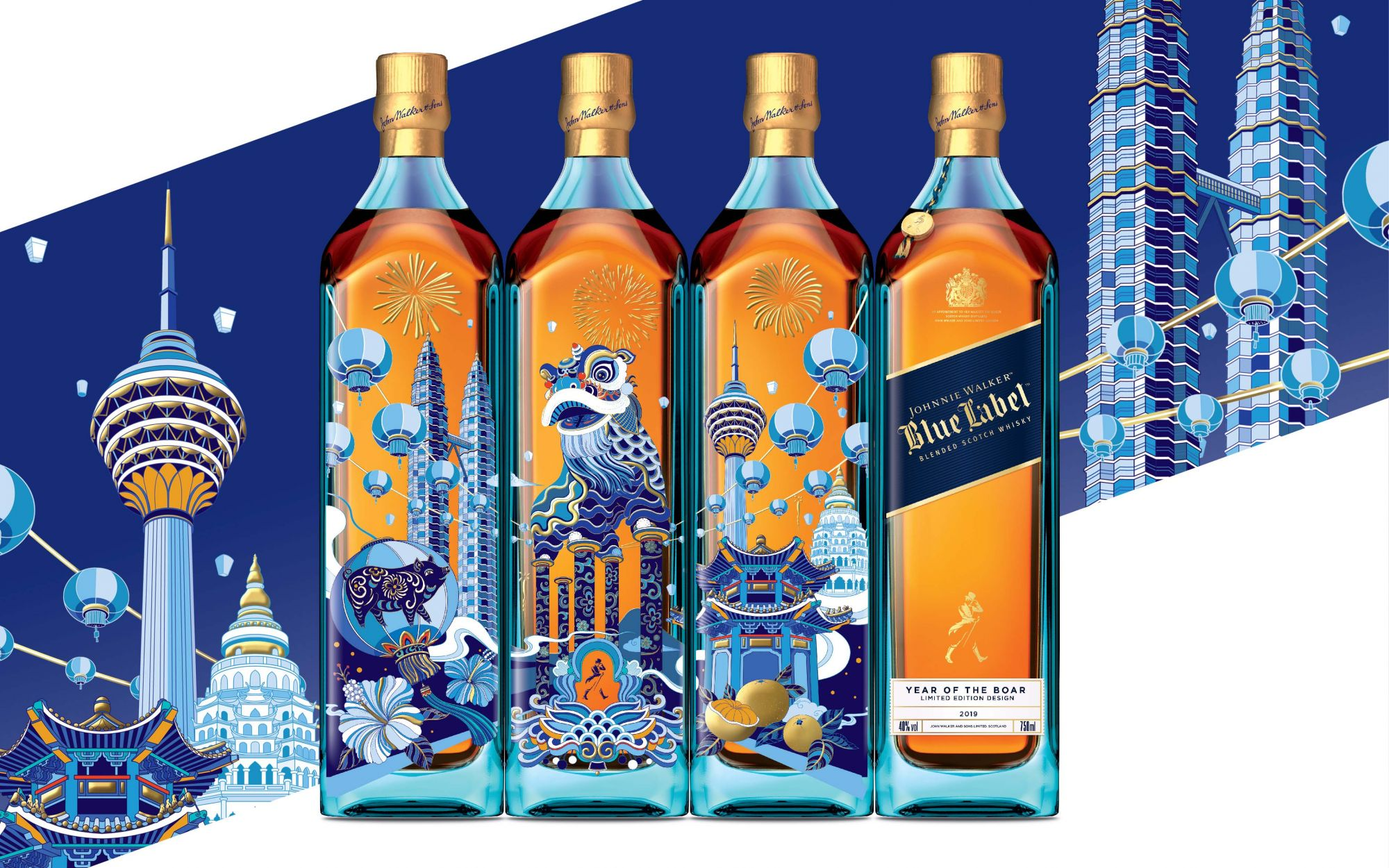 Collectible Chinese New Year Whiskies By Johnnie Walker And