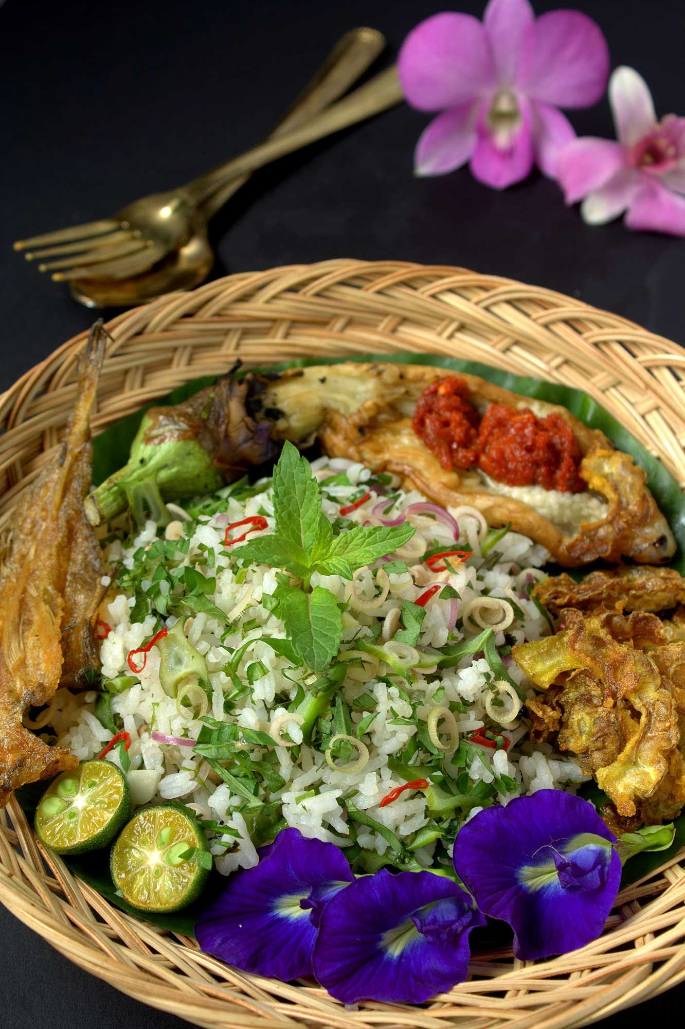 Nasi Ulam or Nyonya herb rice. Photo: iStock.