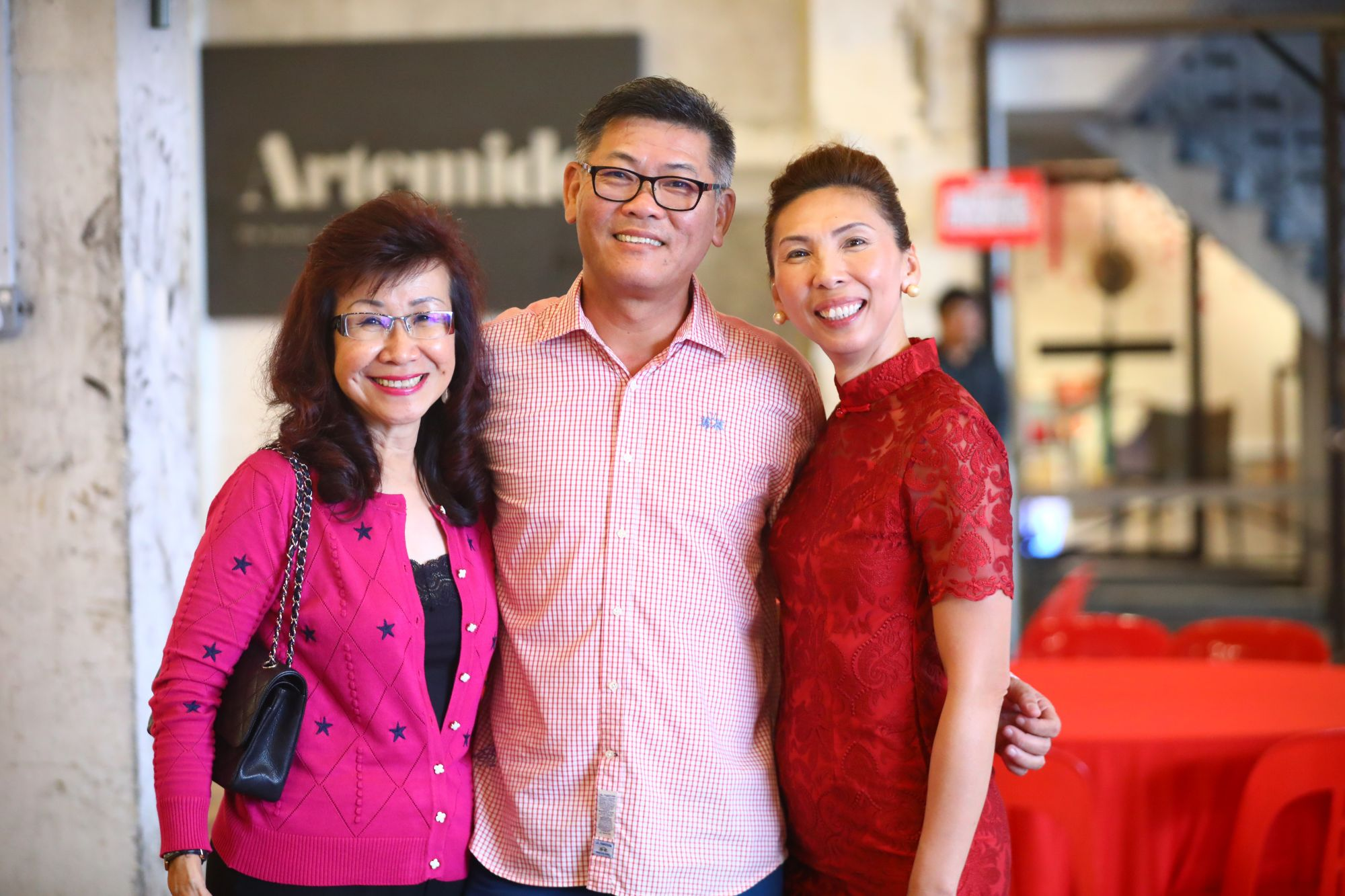 Florence Fang, Sua Kim Seng and Sherreen Ho