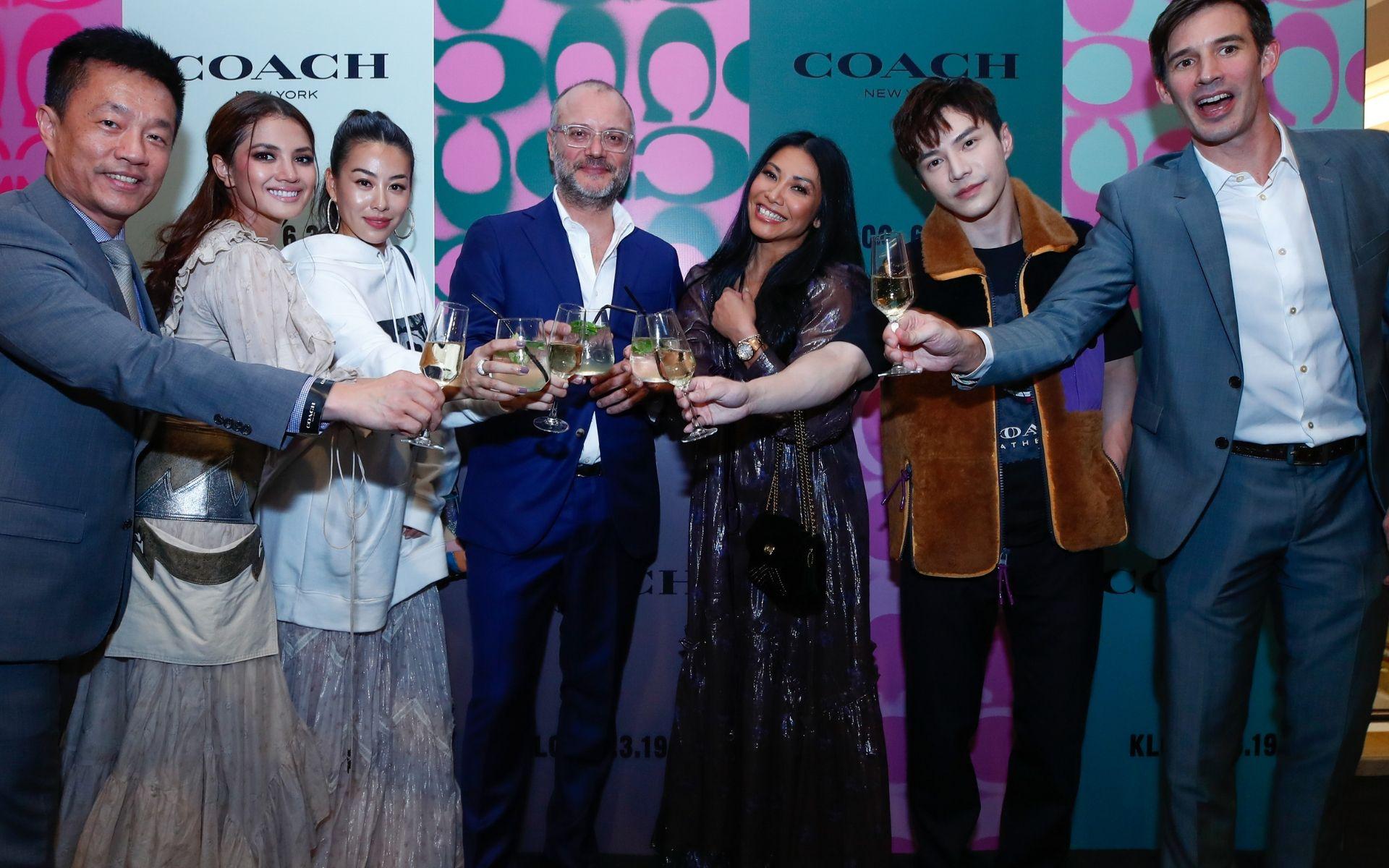 (From left) Francis Tan, Nur Fazura, Dizzy Dizzo, Giorgio Sarne, Anggun, Lawrence Wong and Emmanuel Ruelland