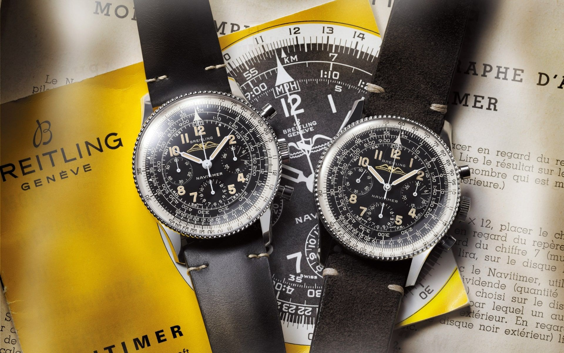 The 1959 Re-Edition (left) and the original watch from 1959