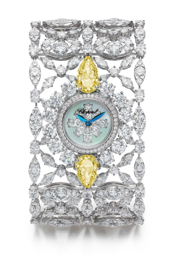 This cuff watch is one of the new pieces from Chopard's Red Carpet Collection