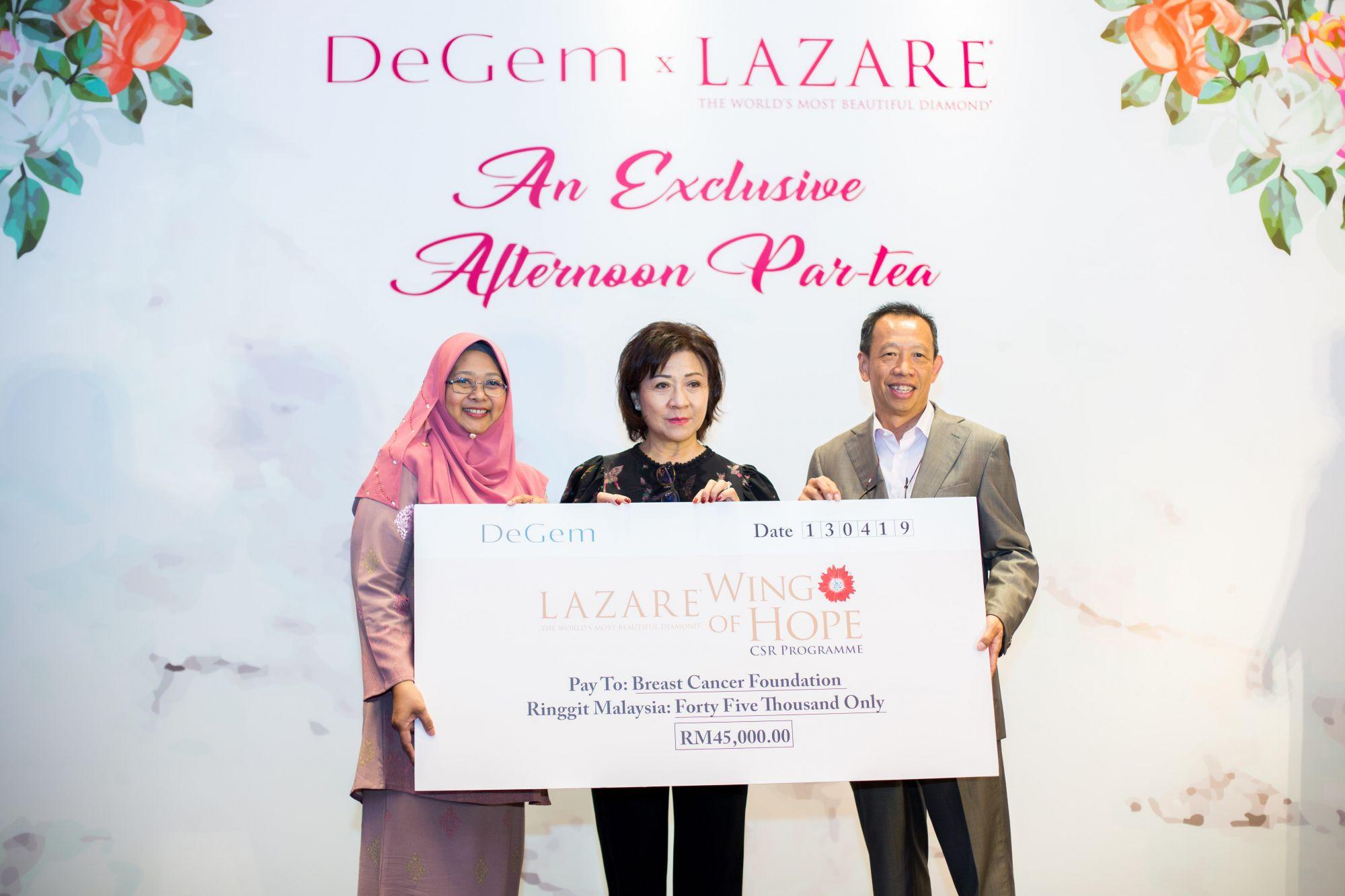 Surayati Hamzah, Laura Chow and Stephen Choong