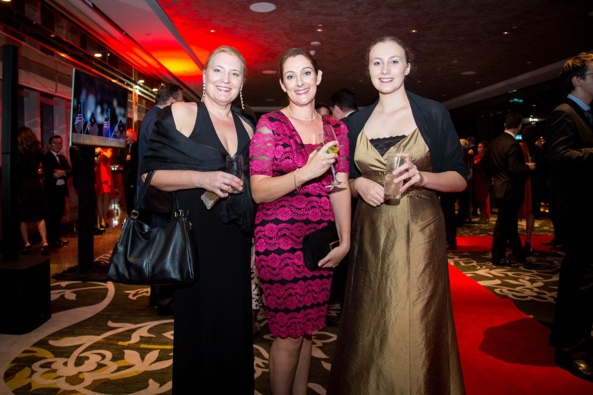 Delphinne Buriot, Theresa Attar and Laurene Buriot