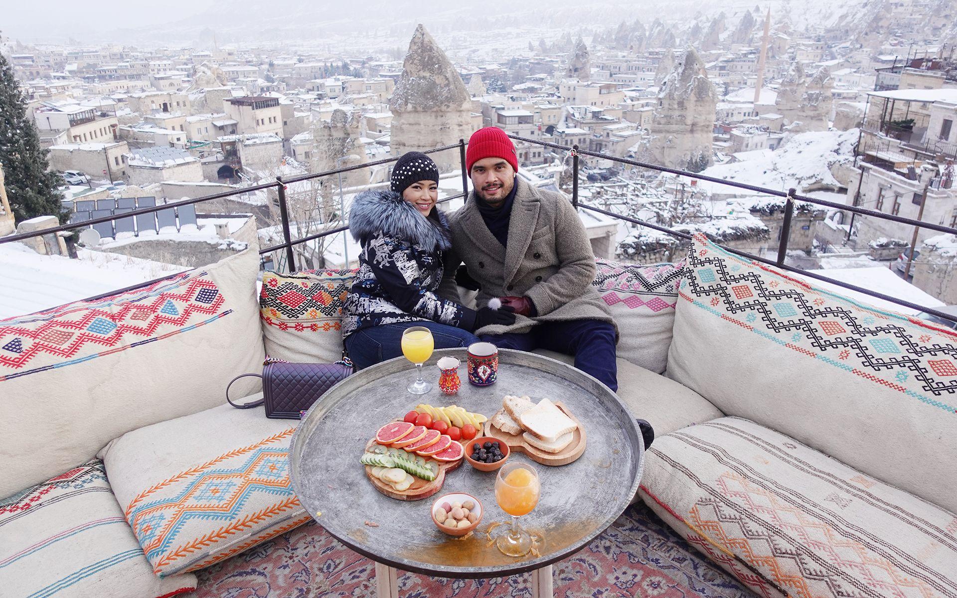 Breakfast with a view, in Cappadocia. (Photo credit: Dr Fazliana Abd Rashid)