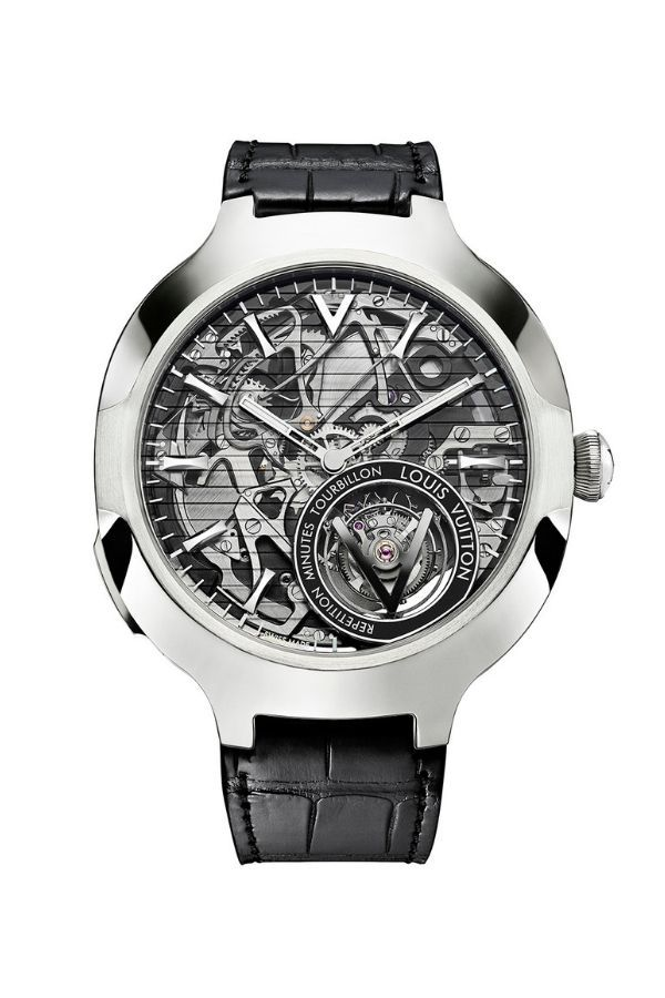 Louis Vuitton's interpretation of a watch endowed with a flying tourbillon and minute repeater