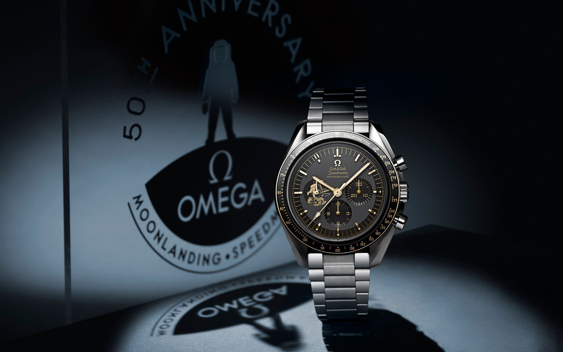 Speedmaster Apollo 11 celebrates the 50th anniversary of the men's first step on the moon