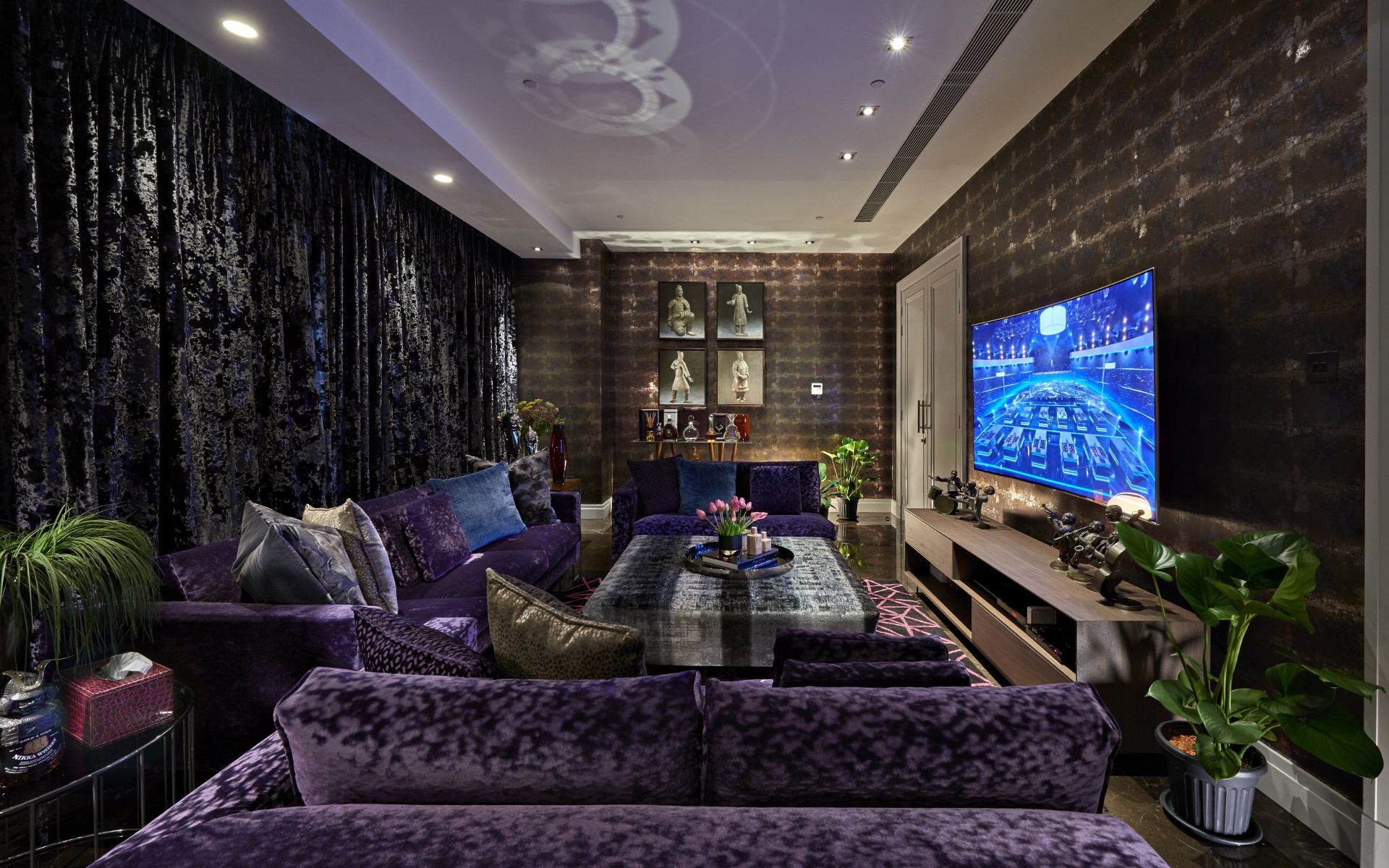 A cinema room for the family to escape to