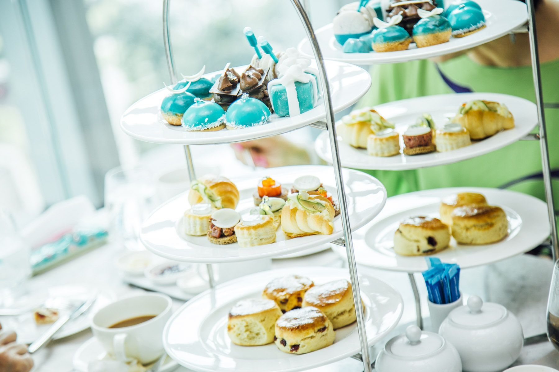 A Tiffany & Co. themed afternoon tea at the Four Seasons Hotel Kuala Lumpur
