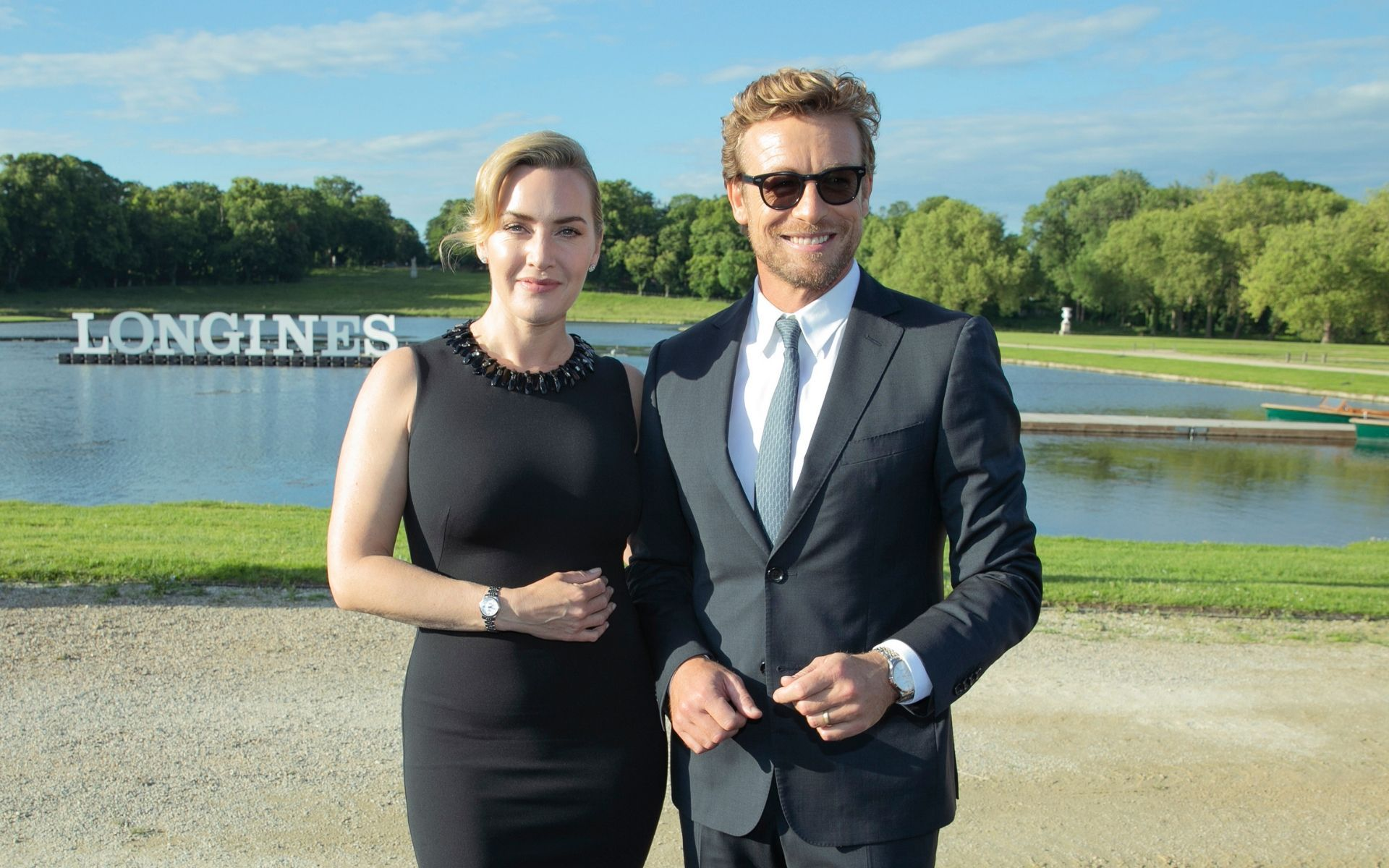 Kate Winslet and Simon Baker at Chateau de Chantilly