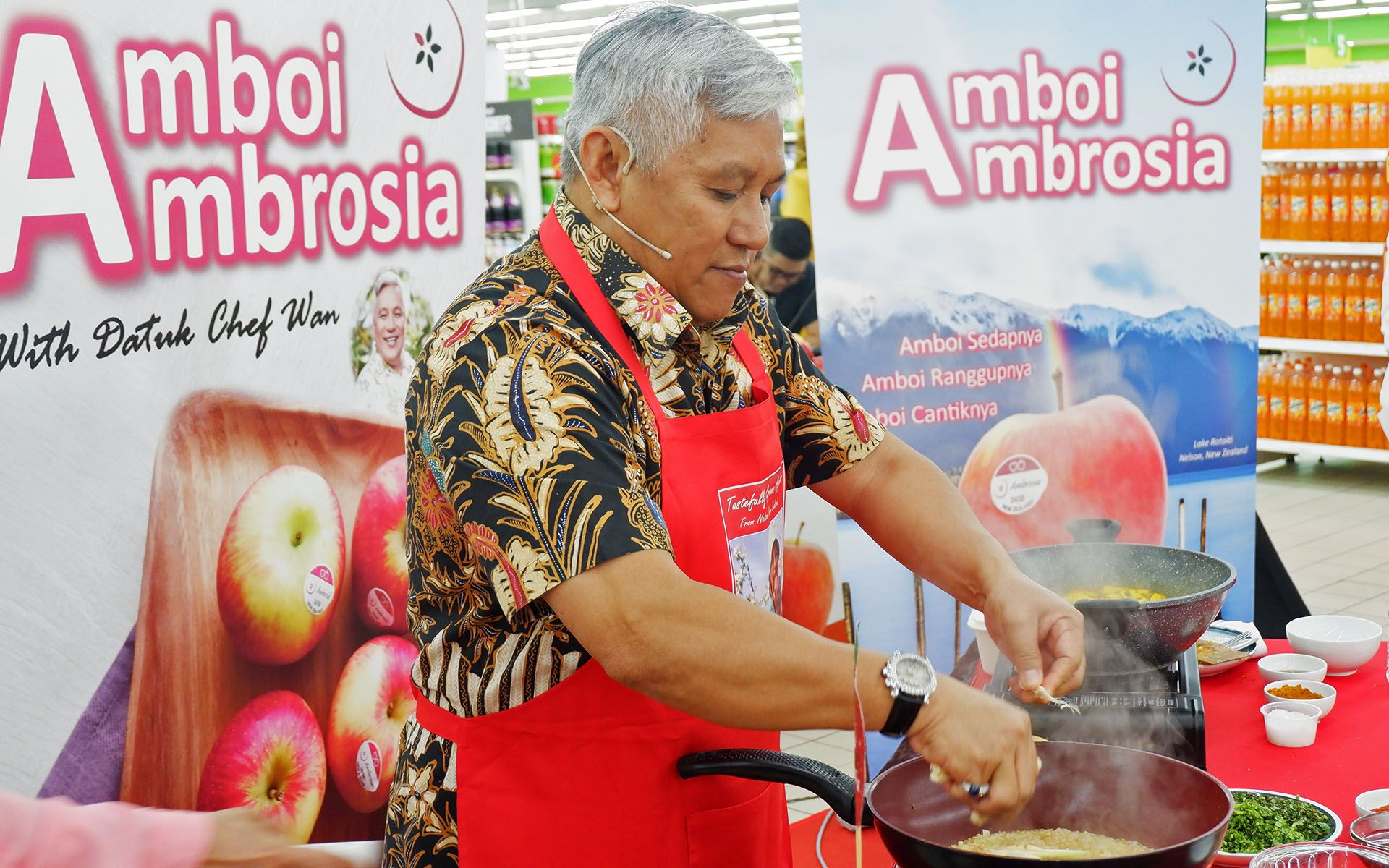 3 Savoury Ambrosia Apple Recipes Demonstrated By Datuk Chef Wan