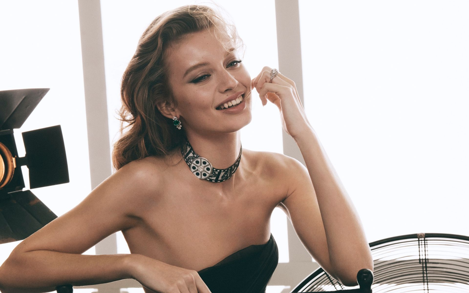 The Cinemagia collection features movie-inspired jewellery, like this quirky film strip choker, that wouldn't look out of place on the red carpet. (Photo credit: Bvlgari)