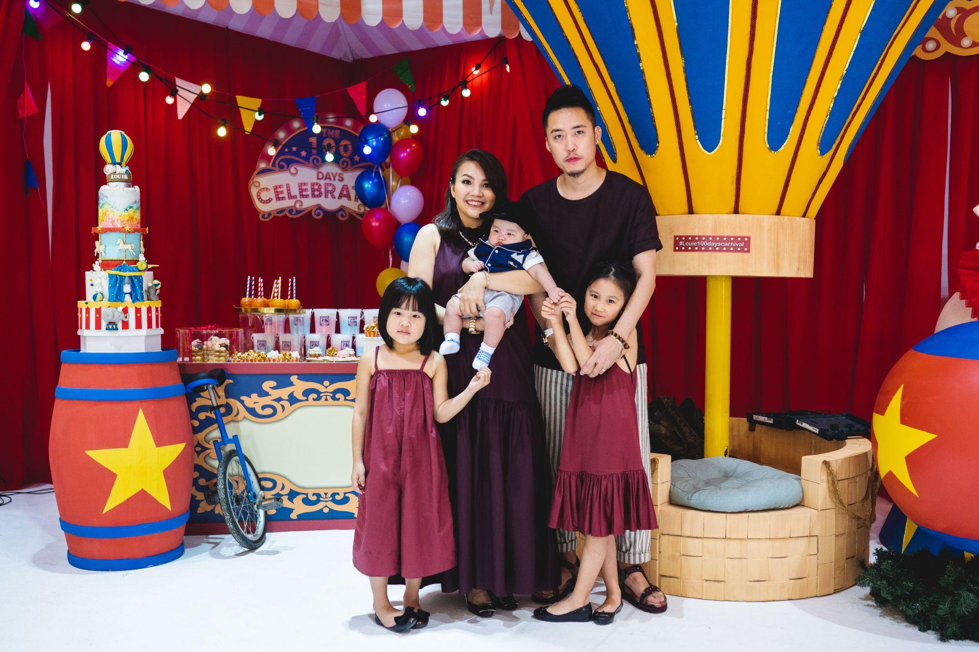 Bryan Loo and Sally Quah with Kylie Loo, Louie Loo and Hayley Loo